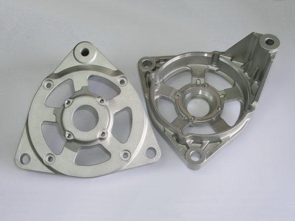 Aluminum die casting automotive alternator drive end brackets