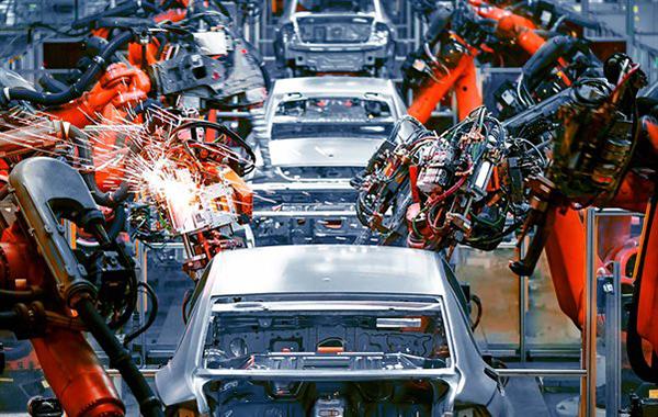 Car production linspot welding