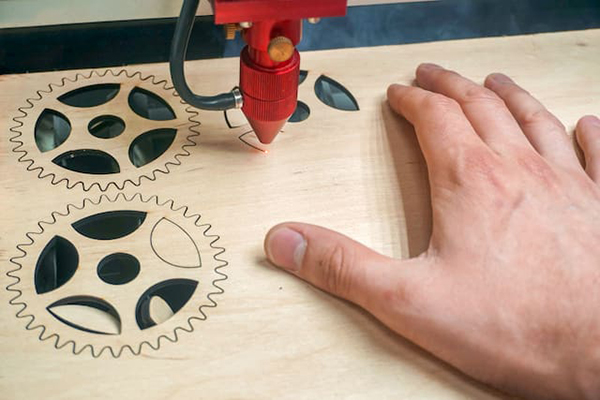 Laser cutting wood