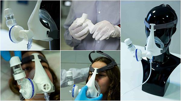 3D printed oxygen PEEP masks